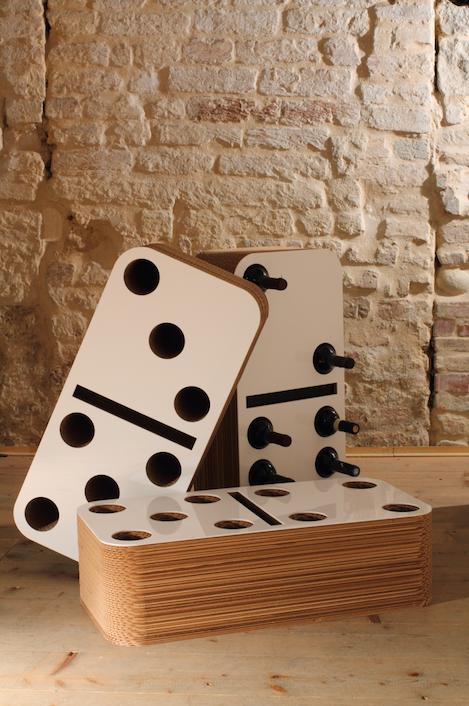 Domino arredamento in cartone ecologico made up for Arredamento cartone